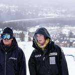 BAR coach Tom - WMSC coach Leslie - Kimberley slaloms PHOTO CREDIT: Derek Trussler