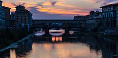 Ponte-Vecchio-Florencia-Italia-Liamvasik (Liamvasik Artworks) Tags: sunset italy river twilight italia ponte florencia firenze vecchio liamvasik