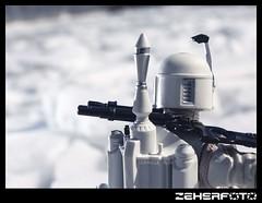Proto Fett Snow Day (Zeherfoto) Tags: snow ice toy photography star action prototype armor figure boba wars fett mandalorian