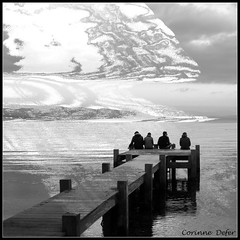 """Au bord du monde"" (Corinne DEFER - DoubleCo) Tags: travel sea portrait blackandwhite bw mer france blancoynegro nature landscapes noiretblanc nb paca paysage paesaggi var paysages biancoenero paisagens landschaften carr sainttropez  carrfranais corinnedefer lesgraniers"