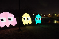 pac man (timp37) Tags: winter light plant man bus water painting illinois january harry pixel stick worth ghosts heights palos reclamation pac 2015 yourell