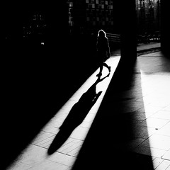 * (donvucl) Tags: bw london fuji shadows squareformat eustonstation lightandshade donvucl x100s