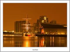 Golden Light at Riverside (flatfoot471) Tags: urban museum night landscape scotland riverclyde riverside unitedkingdom harbour glasgow ships normal yorkhill 2012 glenlee
