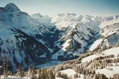 (kara o'keefe) Tags: schnee trees sun snow ski alps film berg canon austria sterreich skiing urlaub fujifilm bergen alpen skifahren