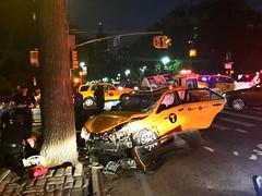 Taxi crash on Central Park west (dannydalypix) Tags: nyc newyorkcity gothamist gotham centralparkwest taxicabcrash