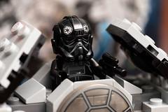 Star Wars Lego- TIE Advanced Prototype, Set 75128 (Andrew D2010) Tags: starwars lego tie mini micro pilot tiepilot tiefighter tieinterceptor minifigures series3 75128 microfighters tieadvancedprototype set75128