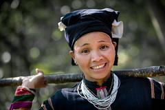 Vietnam: dans un village Lolo noir. (claude gourlay) Tags: portrait people face asia retrato vietnam asie ethnic ritratti indochine caobang tonkin baolac ethnie minorit claudegourlay lolonoir