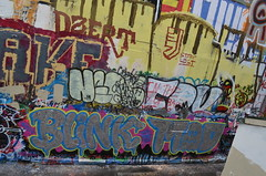 9/23/2014 Free Wall (sixheadedgoblin) Tags: spray roller publicart awake mad blink olympiawashington freewall dzert freewallwide2 staylost