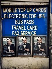 Electronic Top Ups (Herschell Hershey) Tags: london magazine leo hoarding upper leonardo holloway gq newsagent dicaprio