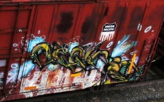 - haiku (timetomakethepasta) Tags: haiku freight train graffiti up union pacific boxcar