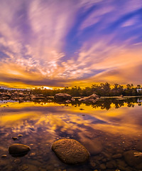 Sunrise vibes (Now 2 Eternity photography) Tags: california old bridge blue orange reflection ice water colors sunrise river gold rainbow colorful long exposure folsom le