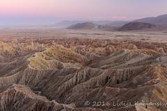 Borrego Badlands at Dusk (Lidija Kamansky) Tags: alpenglow badlands borregobadlands california desert anzaborregodesertstatepark fontspoint nature landscape scenics outdoors highangleview beltofvenus