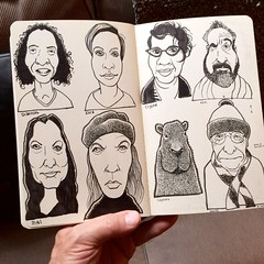 Some of my favorite people (Don Moyer) Tags: moleskine face ink notebook grid faces drawing moyer brushpen donmoyer