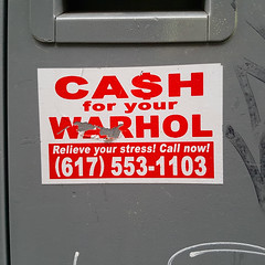 Ca$h for your Warhol - Montreal (Exile on Ontario St) Tags: street streetart art andy sign mailbox sticker stickerart artist phone montral mail box montreal stickers banksy cash number popart installation streetartist andywarhol letter warhol letterbox signe autocollant phonenumber installations hargo collant collants autocollants geoffhargadon cashforyourwarhol cfyw cash4yourwarhol