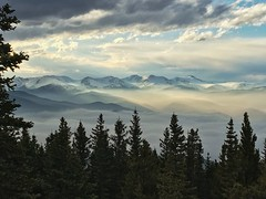 Inversion on the Front Range (Darin Hagre) Tags: sunset mountains weather fog clouds landscape colorado inversion frontrange forests