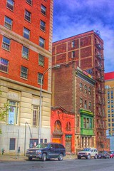 Albany ~  New York ~ Historic State Street ~ Back of Building (Onasill ~ Bill Badzo) Tags: street camera old city sky ny newyork building classic sign st architecture clouds vintage buildings fire hotel photo back closed downtown neon escape state kodak 5 district no empty garage entrance bank row historic lodge capitol 49 abandon wellington albany historical restoration former register canopy statest stable rt hdr statecapitol elks elkslodge bpoe carterhotel albanycounty nrhp bope onasill stunningvision