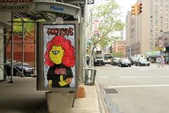 abelincolnjr (Luna Park) Tags: nyc streetart ny newyork manhattan 666 lunapark slayer abelincolnjr telephonebooth adtakeover rockysays