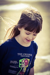 Having Fun Outside (Vegan Butterfly) Tags: cute girl shirt person kid vegan child adorable tshirt creeper minecraft