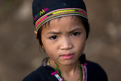 "Vietnam: enfant chez les ""Lolo noir"". (claude gourlay) Tags: portrait people face asia retrato vietnam asie ethnic minority ritratto indochine caobang tonkin baolac ethnie minorit ritrtti claudegourlay lolonoir"