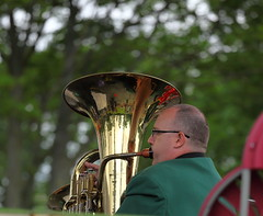 blowing this tuba. (Barry Miller _ Bazz) Tags: music victoriapark cheshire musical summertime tuba bandstand widnes 70200mmf4l canonlens canon5dmark2 greenallsbrassband