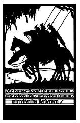 2s (DenjaChe) Tags: silhouette papercut scherenschnitt germansoldiers ulanen