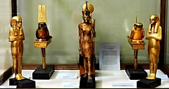 Tutankhamun's gold statuettes (Amberinsea Photography) Tags: egypt tutankhamen tutankhamun cairomuseum treasuresofancientegypt goldtreasure amberinseaphotography