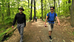 Richard, Jerry O follow Mill River to Smith campus (Birch Street Pictures) Tags: hunks millriver