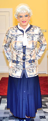 Ingrid022033 (ingrid_bach61) Tags: skirt mature button blazer pleated faltenrock bowblouse schleifenbluse durchgeknpft