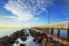 Morning Light (Beth Wode Photography) Tags: seascape sunshine clouds pier rocks beth jetty moretonbay wellingtonpoint wode wellingtonpointjetty bethwode
