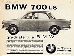 1963 BMW 700 LS (U.K. Ad) (aldenjewell) Tags: uk ad bmw 700 ls 1963
