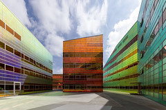 a colourful, well-lighted place [3] (yushimoto_02 [christian]) Tags: building netherlands architecture buildings ladefense almere unstudiooffice