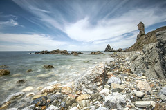 Acantilados del Maro (Jose Peral Merino) Tags: sea sky landscape mar andaluca torre stones paisaje ruinas cielo nubes rocas mlaga nerja aantiladosdelmaro