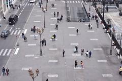 Lunchtime, Place de la Bourse, Paris (alcowp) Tags: paris france square pedestrians bourse finance