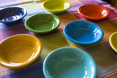 table cloth colors-013 (swardraws) Tags: colorful dish bowl fiestaware