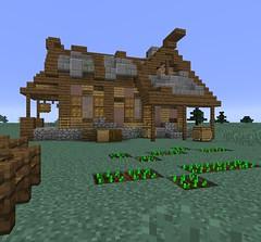 Skyrim into Minecraft (Gabby Green-Dragon) Tags: building skyrim minecraft