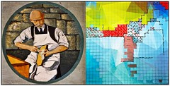shoemaker's diptych (kazimierz.pietruszewski) Tags: 21 diptych dotsandboxes digipaint digitalpainting illustration joke shoemaker play markmorgan graphpapernotebook awardtree graphpaper grawszewca