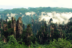 Avatar Mountains (Meeg.E) Tags: china summer mountains travelling nature students beauty clouds landscape avatar backpacking  peaks     zhangjiajie