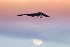 Sunset-and-Moonlight-at-Nellis-AFB (Arommore Images) Tags: b2a spirit stealth nellisafb lnvisabledefenders redflag sunset