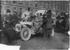 1908. New York to Paris automobile race, start of race, unidentified car (Protos) (foot-passenger) Tags: 1908 newyorkparis race protos germancar greatrace       libraryofcongress loc