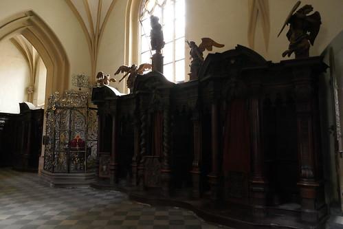 Konfesjonały północne (1717-20, Klahr Starszy) w kościele Wniebowzięcia NMP w Kłodzku