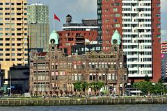 HOTEL NEW YORK (dv-hans) Tags: elbe portofrotterdam cruise nieuwemaas skyline nieuwewaterweg museumtug hotelnewyork