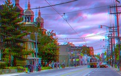 Toronto's Little Italy quarter 3-D ::: HDR/Raw Anaglyph Stereoscopy (Stereotron) Tags: toronto ontario canada america radio canon eos stereoscopic stereophoto stereophotography 3d downtown raw control north kitlens twin anaglyph stereo stereoview to remote spatial 1855mm hdr province redgreen tdot 3dglasses hdri transmitter stereoscopy synch anaglyphic optimized in threedimensional hogtown stereo3d thequeencity cr2 stereophotograph anabuilder thebigsmoke synchron redcyan 3rddimension 3dimage tonemapping 3dphoto 550d torontonian stereophotomaker 3dstereo 3dpicture anaglyph3d yongnuo stereotron