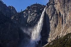 Sideview of Yosemite Falls (lightonthewater) Tags: yosemite yosemitefalls yosemitenationalpark waterfall falls mountains rocks valleyview