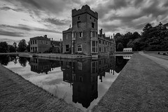 Oxburgh Hall (David Baterip) Tags: uk england sky blackandwhite bw white lake black reflection castle history water architecture rural reflections outdoors hall estate outdoor norfolk moat nationaltrust oxburgh oxborough tokina1116f28 nikond750