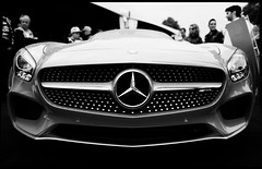 Captive Audience (DHaug) Tags: blackandwhite car mercedes automobile fujifilm gt amg xpro2 mercedesamggt xf16mmf14rwr