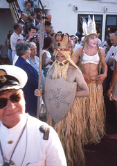 Captain  Lawrence - Equator crossing September 22nd 1965 (D70) Tags: 22 lawrence king crossing ss cast captain himalaya sept trusty neptune supporting equator slimy 1965 sons honorable nickname griffins nicknamed pollywogs shellbacks