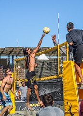 avp mens prelims ll (pbo31) Tags: sanfrancisco california city bridge summer game color net beach sport june yellow jump sand nikon motionblur baybridge embarcadero mens bayarea volleyball 80 southbeach avp 2016 prelim boury pbo31 pier30 d810