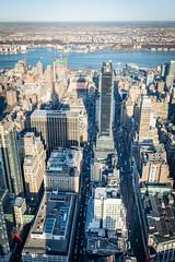 Shadow of the Empire State Building (Malick) Tags: city travel winter usa newyork skyline america skyscraper lens photography nikon unitedstates angle manhattan wide sigma empirestatebuilding dslr 1020mm longislandcity uwa d5200