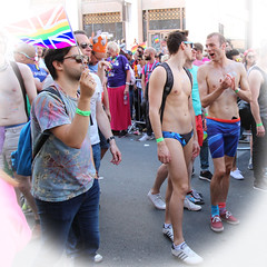 London Pride 2016 (ec1jack) Tags: uk gay party summer england men london westminster june naked march europe britain muscle pride parade lgbt carnivale topless swimmer trunks 25th speedo 2016 kierankelly ec1jack canoneos600d