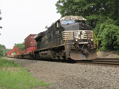 Norfolk Southern Chicago Line / MP 474 Eastbound (codeeightythree) Tags: railroad train otis ns transportation freight stacktrain containertrain norfolksouthernrailroad otisindiana mp474 norfolksouthernchicagoline singleleader